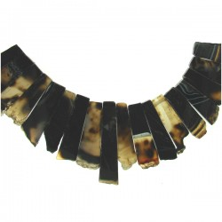 Black Agate Slices Top Drill