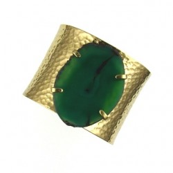 green agate bangle br-g108