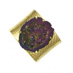 purple drusy agate br-g111