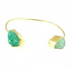 GP Green Drusy Bangle