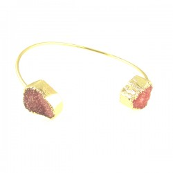 GP Pink Drusy Bangle
