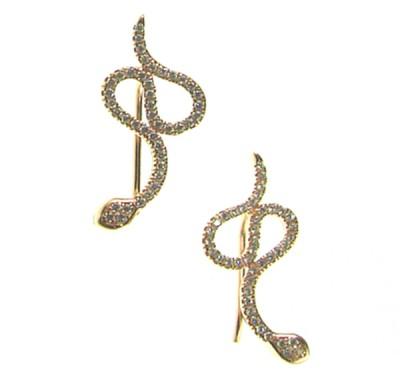 102214F rg Snake Earring