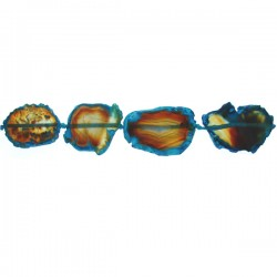 Agate with blue color trim