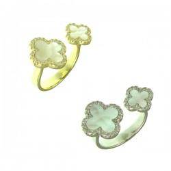 Clover Adjustable Ring