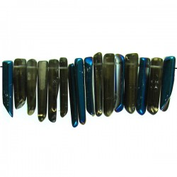 Coated Crystal Point Graduated - Blue