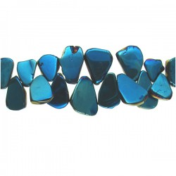 Coated Crystal Slices- Blue