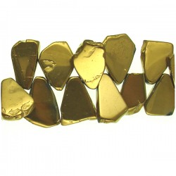 Coated Crystal Slices- Gold Color