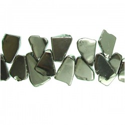 Coated Crystal Slices- Silver Color