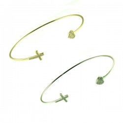 14-1814 Heart Cross Bangle