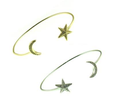 54-0748 Star Moon Bangle