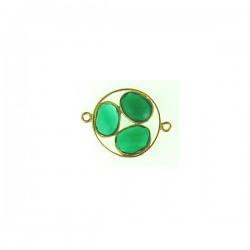 Vermeil Green Onyx Link