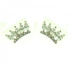 032415E SS Crown Earring