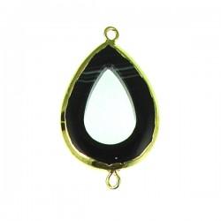 Black Onyx Drop Link