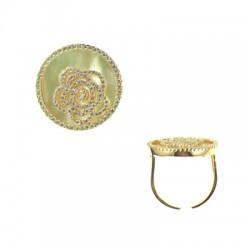 042915-A RG Vermeil Shell Ring