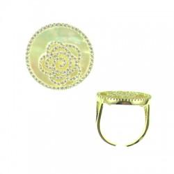 042915-A Vermeil Shell Ring