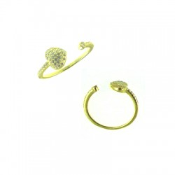 042915-E Vermeil Heart Ring