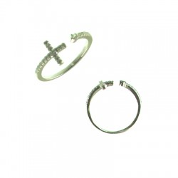 042915-G SS Cross Ring