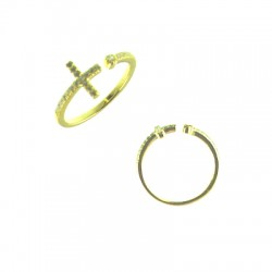 042915-G Vermeil Cross Ring