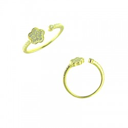 042915-H Vermeil Flower Ring