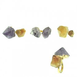 Amethyst Citrine Ring