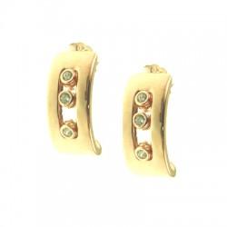 RG Curved Earring w CZ