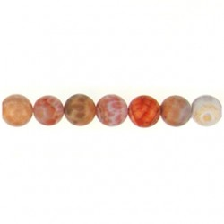 Fire-Agate-B-plain-round beads