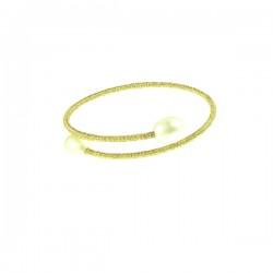 Pearl Bracelet- Gold Tone