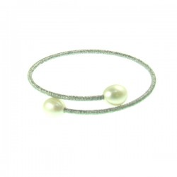Pearl Bracelet- Silver Tone