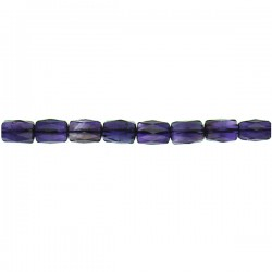 Amethyst Faceted Tube