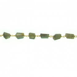 Labradorite brass wire to wire