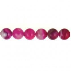 Fuchsia Agate round beads