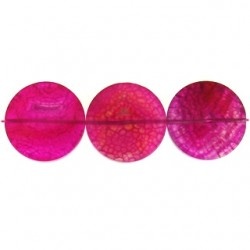 Fuchsia dyed agate coin