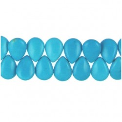 Howlite Turquoise Teardrop Top Drill