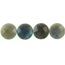 Labradorite-25mm-Faceted Coin