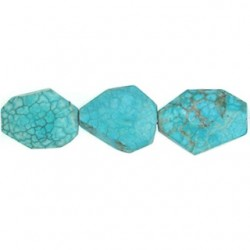 Rect Turquoise Fac Freeform Nugget