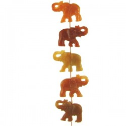 Red Aventurine Elephant