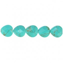 teardrop faceted rect turquoise rectl-f10