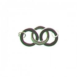 F104-1255 ss Three Link