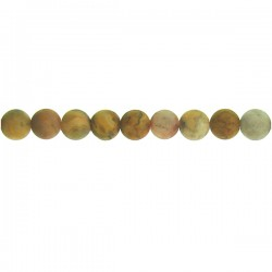 Matt Crazy Lace Agate Round Beads