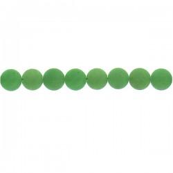 Matt Green Aventurine Round Beads