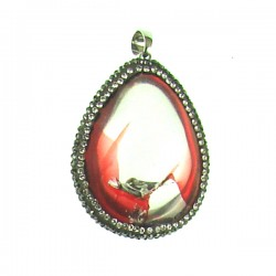 Red Crystal Teardrop Pendant