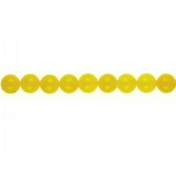 Yellow Dyed Qtz Round Beads