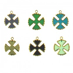 Brass Cross Assorted Color