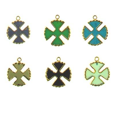 Brass Cross Assorted Color