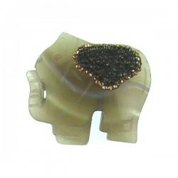 Agate Elephant Pendant