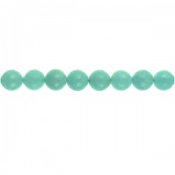 Blue Dyed Qtz Faceted Round
