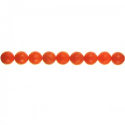 Orange Dyed Qtz Faceted Round