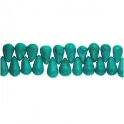 Rect Turquoise Top Drill Teardrop