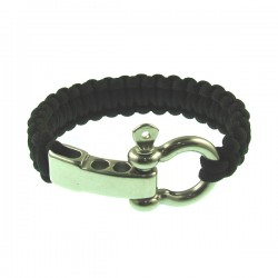 Black Color Knot Metal Bracelet