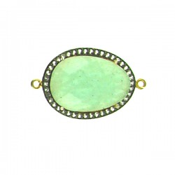 Faceted Amazonite Piece with Clear Crystals